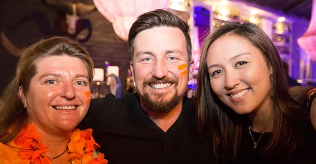 Ryan Wallace with Anthea Myburgh (Fleewinter) and Charlotte April Harris (Charlotte Travel Limited).
