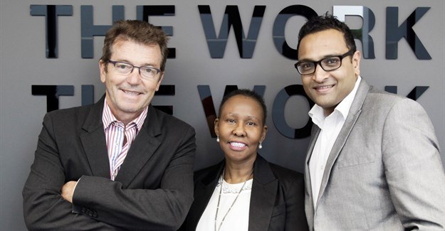 Left to right: Keith Shipley (BBDO executive chairman) with Boniswa Pezisa (group CEO) and Gau Narayanan (Net#work MD).