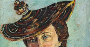 'Portrait of Freda Feldman with Basuto Hat' by Irma Stern