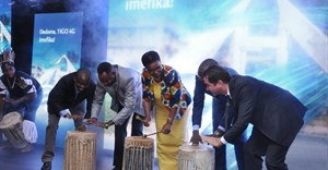 Tigo management and local government officials at the launch of Tigo 4G in Mwanza City, Tanzania, earlier this year