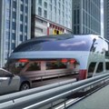 China's futuristic bus allows cars to pass underneath its carriages