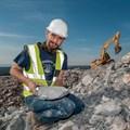 Fossiliferous shale treasure trove found during N2 rock blasting