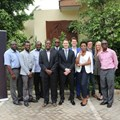 Team Uber with the first driver-partners in Accra