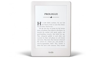 The new Kindle weighs in at 161g, with a six-inch display. Picture: AFP
