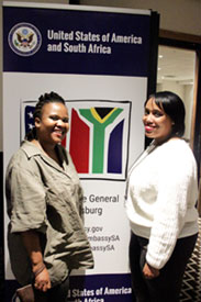 Left to right: Thabisa Gajana and Nadia Boonzaaier at the CCI Orientation.