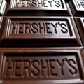 A Hershey's chocolate bar is shown in this photo illustration in Encinitas, California, US in January 2015.