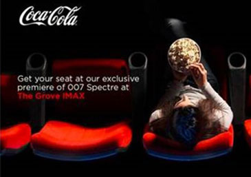 Cinema stunt - The great taste of Coke Zero