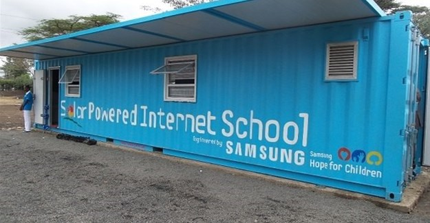 One of Samsung's solar power internet schools