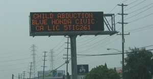 Amber Alert sign: Another example of the use of DOOH to locate missing/abducted children. Image ©  from Honolulu, Hawaii - ,