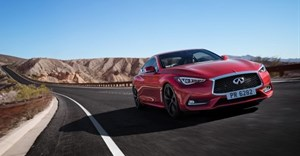 Infinit Q60 sports coupe.