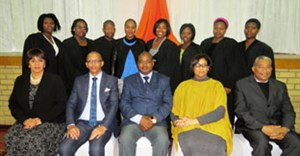From left to right, front row: Ms Karin Hendricks, Mr Abe Oliver, Mr Haido Mteto, Ms Helga Jansen-Daugbjerg, Mr Shauwn Van Staden; Back Row: False Bay TVET College GAP Graduates