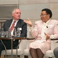 Unilever CEO, Paul Polman, with former First Lady, Dr Graça Machel