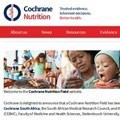 Establishment of Cochrane Nutrition Field in South Africa