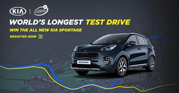 Kia Motors SA to attempt world's longest test drive relay