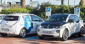 New charging stations located at the Victoria and Alfred Waterfront in Cape Town.