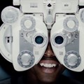 Twala having his eyes tested