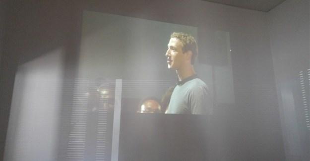 Mark Zuckerberg live streamed address