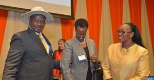 Uganda President Yoweri Museveni, Janet Museveni and Sicily Kariuki of Kenya.