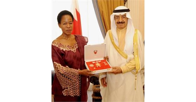 H.R.H Prince Khalifa bin Salman Al Khalifa and Professor Anna Tibaijuka.