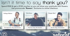 TFG and SA Florist partner to encourage customers to say thank you