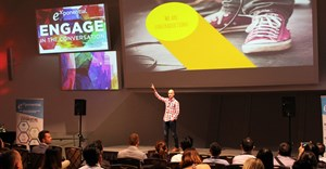 Greer in action at one of Exponential's recent 'What has your data done for you lately?' presentations in New Zealand.