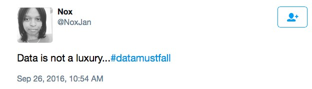 Stop gentrifying our internet #DataMustFall