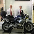 James and Berto of BikeBuyers with BMW GS 1200