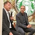 Carlo Gonzaga and Howard Schultz. Picture: