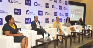 Panelists in a discussion during the official launch of the 5th annual Tigo Digital Changemakers' award in Dar es Salaam on 18th October 2016.