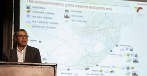 Ricky Bhikraj addressing delegates at the African Ports Evolution conference.