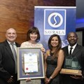 Robert Wright – regional after sales manager for the Volkswagen brand; Carla Wentzel – general manager: sales and marketing for the Volkswagen brand; Loshini Pillay – manager: national key accounts for the Volkswagen brand and Stanley Netshituka – manager: national special markets for the Volkswagen brand with SAVRALA awards.