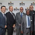 BON Hotels International West Africa Directors and Management Bernard Cassar, Grant Gillis, Guy Stehlik, Paul Umoh, Pieter Bekker and Otto Stehlik at BON Hotel Stratton Asokoro.