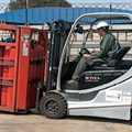 The converted hydrogen forklift at Impala Platinum Refinery is the first of what is hoped is a fleet powered by clean technology. (Image: GCIS)