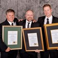 From left to right: Mark Rylance and Heath Dormer (Barloworld Transport) and James Berry - COO Meadow Feeds (Western Cape)