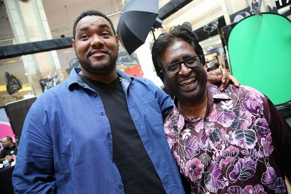height : 667width : 1000Comedian, Carvin Goldstone and Logie Naidoo made space in their busy diaries to do their bit for KZN's most needy children at the East Coast Radio Toy Story with Game Corporate Day Challenge.