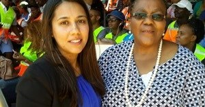 Engen GM: Corporate affairs Tasneem Sulaiman-Bray and Minister of Transport Dipuo Peters