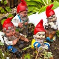 Gnomes, playing us the sad song of their people. Gina Sanders © –