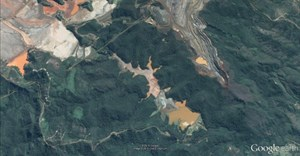 Samarco dam configuration via Google Earth