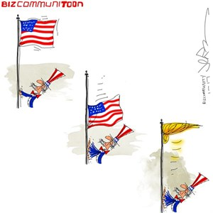 [Bizcommunitoon] Trump Flag