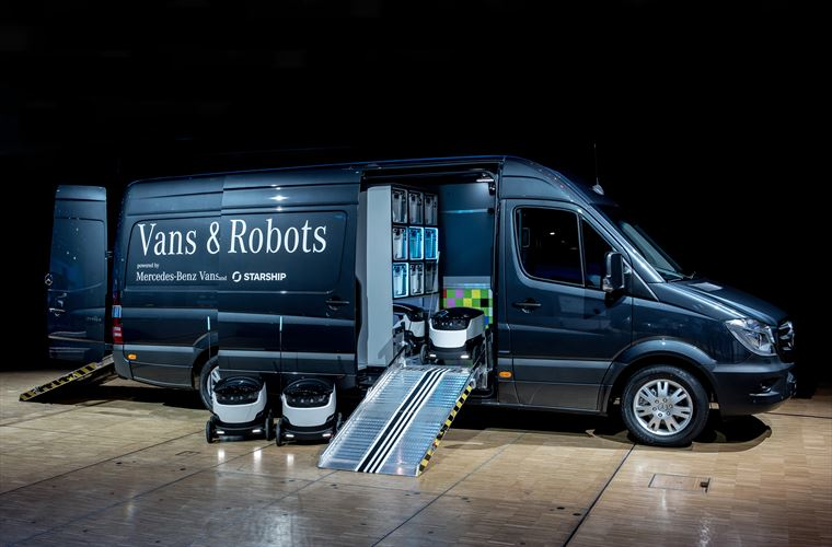 Mercedes-Benz Vans invests in robot startup
