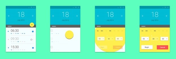 Material Design in UI. Source: