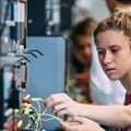 Students at the 2017 Science, Technology, Engineering and Maths (STEM) Camp for Girls at the University of Wollongong. Paul Jones/UOW, Author provided