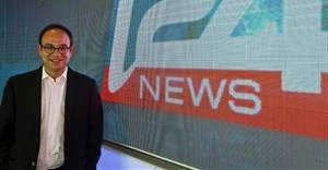 "CEO of the new Israeli-based TV channel ""i24 news"" Franck Melloul poses at the station's headquaters on June 17, 2013 in Tel Aviv's seafront Jaffa district 