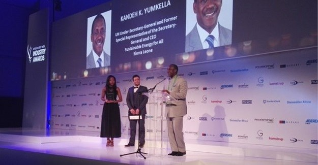 Dr Kandeh Yumkella, UN under-secretary-general and former special representative of the secretary-general and CEO, Sustainable Energy for All (SE4All), won the Lifetime Achievement Award last year.