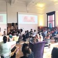 A scene from Open Design's CreativeMornings session.