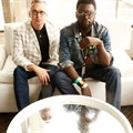Brian Collins and Ekene Ijeoma in the Design Indaba media lounge, photographed by Terry Levin.
