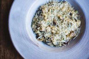 Mushroom and pecorino risotto.
