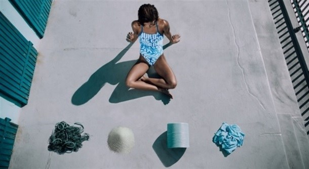 Adidas and Parley for the Oceans  of swimwear and sneakers made from plastic salvaged from the ocean.