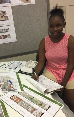 Akhona Thusi, a young designer from Durban University of Technology (DUT) is in the running to win in this year's Furniture Design Competition.