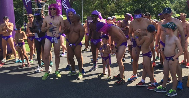 Daredevils take male cancer fight to the streets in Speedos